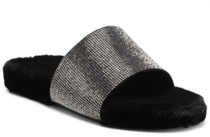 INC International Concepts Inc Feymin Faux-Fur Slipper Slides, Created for Macy's Women's Shoes
