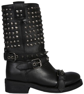Ash Alto Studded Military Boots