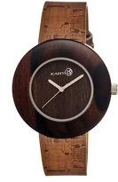 Earth Wood Ligna Dark Brown Leather-Band Watch Ethew1402