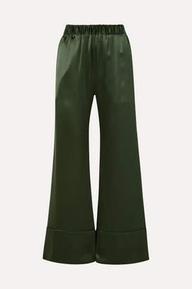 Deitas Paloma Silk-satin Pants - Green