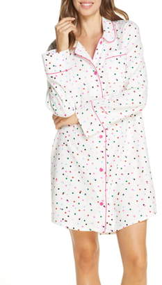ban.do Party Dots Flannel Nightgown