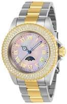 Invicta Women's Sea Base Gold-Tone Steel Bracelet & Case S. Sapphire Quartz Dial Analog Watch 23832