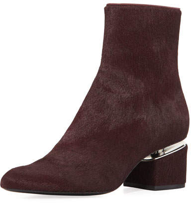 Alexander Wang Jude Calf Hair Block-Heel Boot