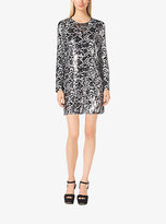 Michael Kors Sequined Snake-Print Dress