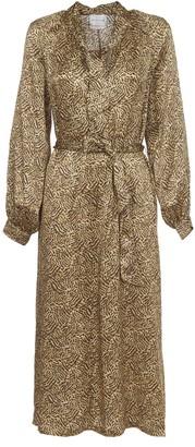 Forte Forte Animal Print Silk Midi Dress