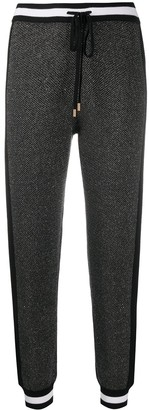 Liu Jo Contrast-Trim Cropped Trousers