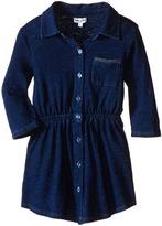 Splendid Littles Indigo Knit Shirt Dress Girl's Dress