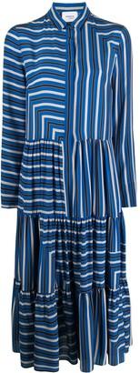Akris Punto gathered panels silk shirt dress