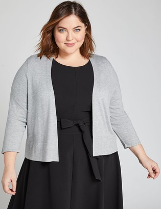 Lane Bryant 3/4-Sleeve Cropped Cardigan
