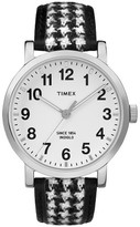 Timex Originals Watch with Houndstooth Strap - Silver/Black TW2P988002B