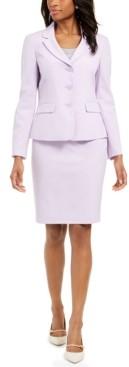 Le Suit 3-Button Jacket Skirt Suit