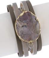 Saachi Evening Leather Bracelet