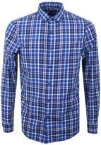 Michael Kors Slim Fit Check Shirt Blue