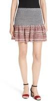Veronica Beard Women's Ruched Miniskirt