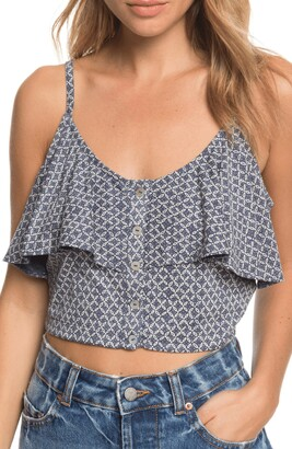 Roxy Electric Feels Popover Crop Tank
