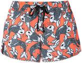 The Upside Sea of Koi print running shorts