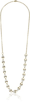 Sorrelli Lisa Oswald Collection Repeating Crystal Long Strand Necklace