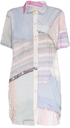 By Walid Julia patchwork shirt dress