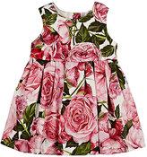 Dolce & Gabbana Rose-Print Cotton Jersey Dress & Bloomers Set