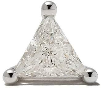 Delfina Delettrez Farfetch Exclusive 18kt white gold DOTS Solitaire diamond stud