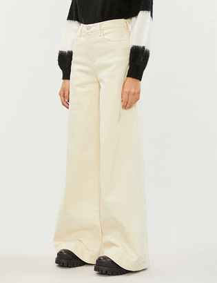 J Brand Thelma cotton-twill flared trousers