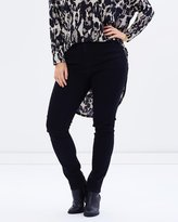 Harlow Black Night Skinny-Leg Denim Jeans