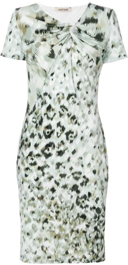 Roberto Cavalli print fitted shift dress