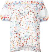 Peter Pilotto off-the-shoulder top - women - Cotton/Polyester/Spandex/Elastane - 10