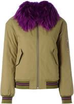Army Yves Salomon fur trim bomber jacket