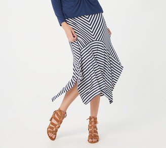 Laurie Felt Rayon Made From Bamboo Blend Striped Maxi Skirt