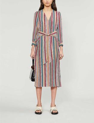 Claudie Pierlot Randy striped woven midi dress