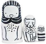 Wee Gallery Black & White Animals Nesting Dolls - Cats Big & Small