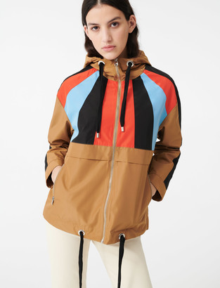 Maje Multicoloured hooded windbreaker
