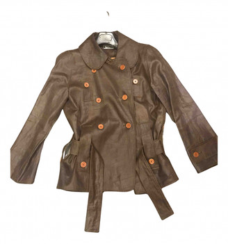 Alexis Mabille Brown Cotton Trench coats