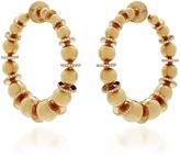 Nikos Koulis Lingerie Gold Sphere Hoop Earrings