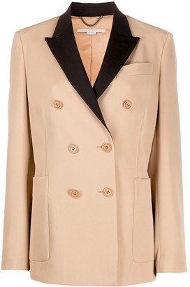 Stella McCartney Contrast-Lapel Double-Breasted Jacket