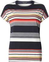 Multi Coloured Stripe Ovoid T-Shirt