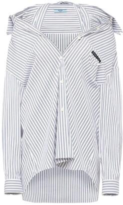 Prada Pinstriped Loose-Fit Shirt