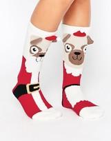 Asos Holidays Mr And Mrs Santa Pug Cozy Socks