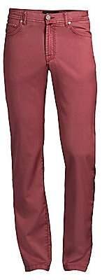 Kiton Men's Straight-Leg Wool Jeans
