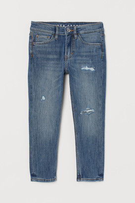 H&M Skinny Fit Ankle Jeans - Blue