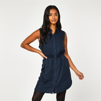 Jack Wills Ruckhall Sleeveless Shirt Dress