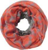 Lina & Lily Leopard Animal Print Women's Infinity Loop Scarf