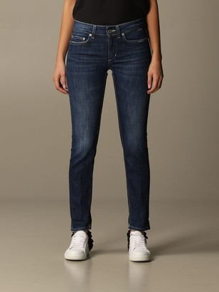 Dondup Jeans In Used Denim With Low Waist
