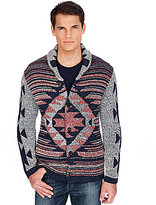 Lucky Brand Jacquard Shawl Cardigan Sweater