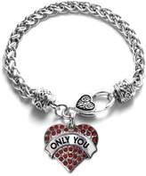 Inspi Silver Only You Candy Pave Heart Charm Bracelet