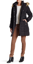 Rachel Roy Puffer Parka With Faux Fur Trim