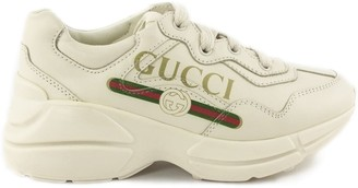 Gucci Rhyton Ivory Leather Sneaker