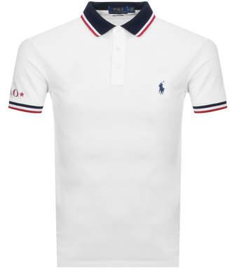 Ralph Lauren Custom Slim Fit Polo T Shirt White