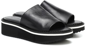 Clergerie Fast3 leather platform slides
